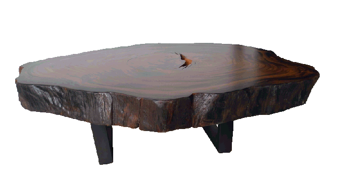 coffee tables made with free form reclaimed tropical hardwoods