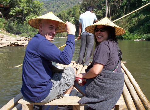 Wally and Pat Stryk on the Mekong
