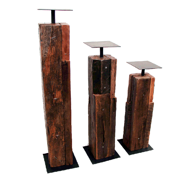candle holders made with reclaimed wood - Wood Art