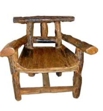 Rustic chair made with reclaimed wood