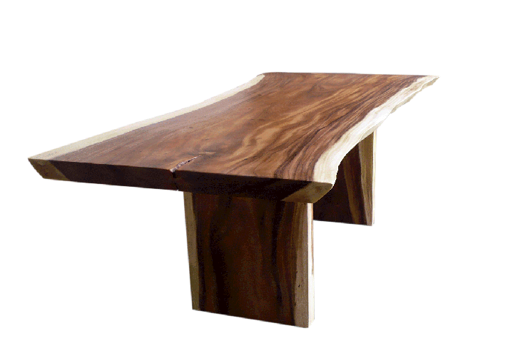free or live edge acacia dining table